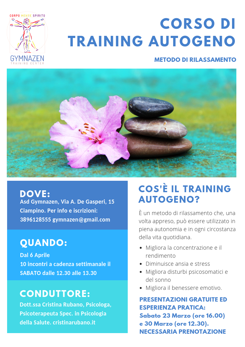 Corso di Training Autogeno a Ciampino