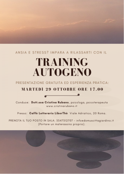 Corso di Training Autogeno a Roma